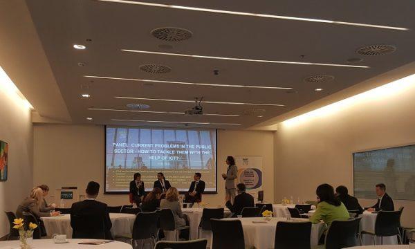 O tome kako pomoću ICT-a prevladati trenutne probleme u javnom sektoru, raspravljali su Mihai Bilauca, Rytis Kalinauskas i Daniel Lenardić.