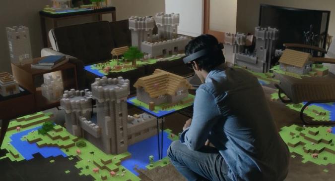 Microsoft je već prebacio Minecraft na HoloLens