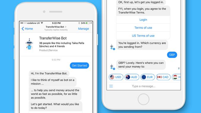 TransferWise je nedavno predstavio slanje i zaprimanje novca putem Facebookovog Messengera, ali usluga za sada nije dostupna za transakcije u kunama.