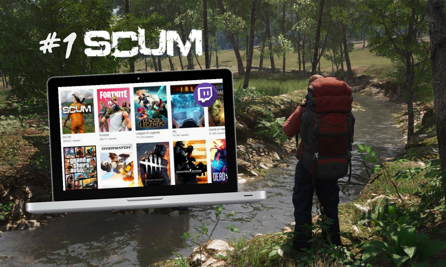 SCUM: Preko 200.000 ljudi gledalo prijenos hrvatske video igre na Twitchu!