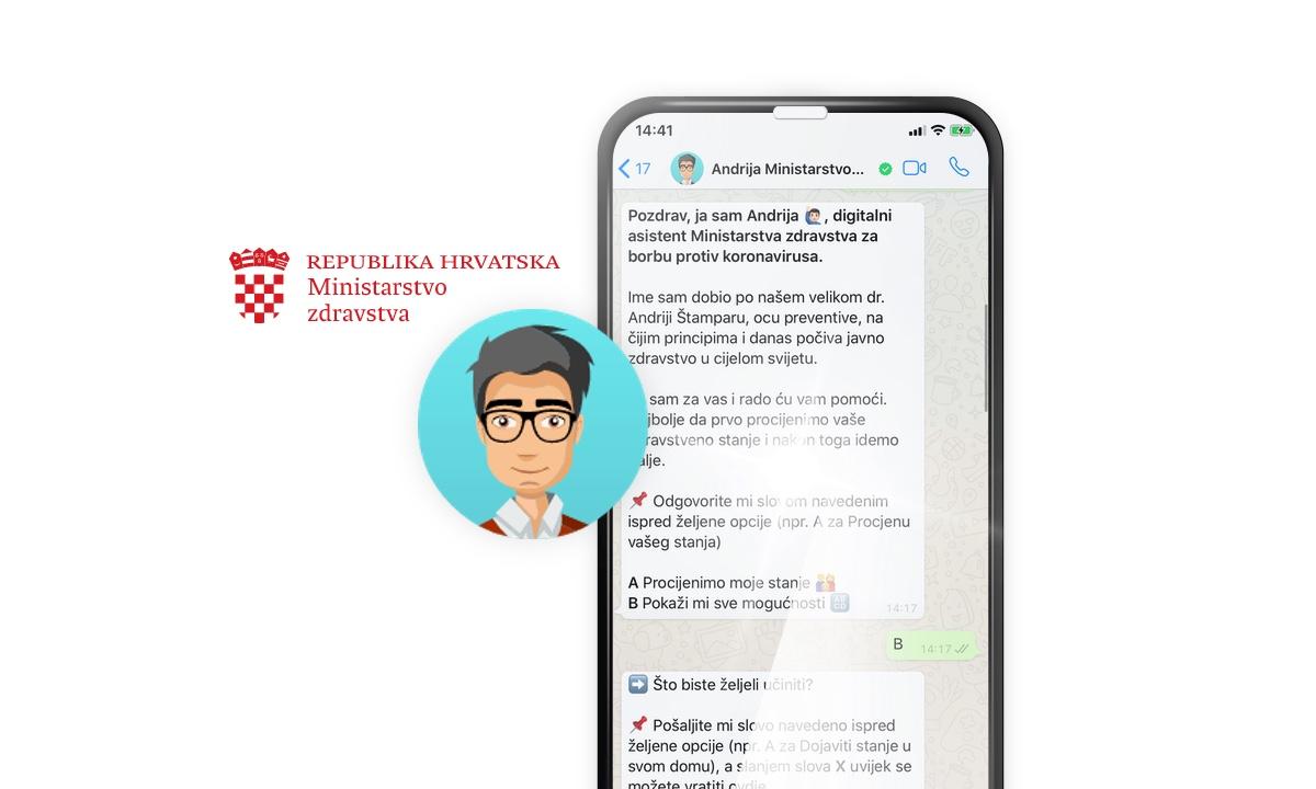 Eksluzivni detalji o Andriji, chatbotu za samodijagnozu koji su donirali Infobip, Neos, Mindsmiths i Oracle