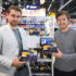 Miha Kovač and Rok Upelj, founders of Smart Turn System, with their product in Interspar supermarket, Slovenia. (photo: Štartaj Slovenija)